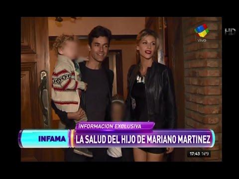Internaron al hijo de Mariano Martínez tras un accidente doméstico