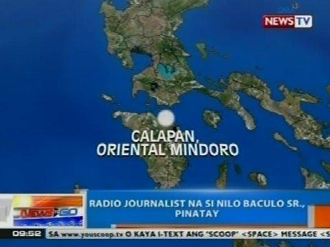 NTG: Radio journalist na si Nilo Baculo Sr., pinatay sa Calapan, Oriental Mindoro