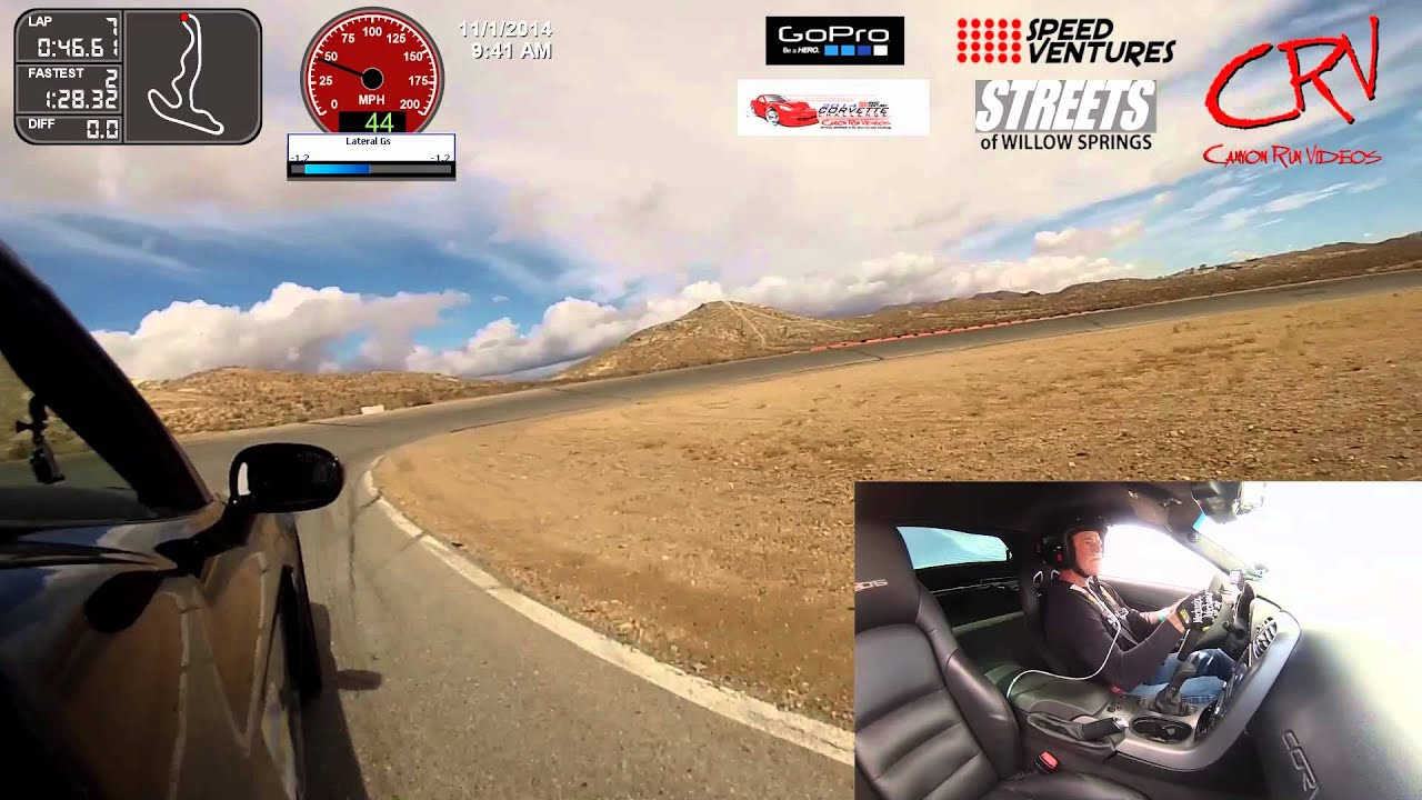 Speed Ventures track day at The STREETS of Willow Springs