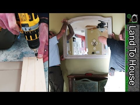 Hanging a Heavy Mirror by French Cleat