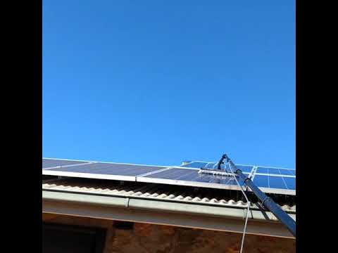 How to Clean Solar Panels from the Ground ?