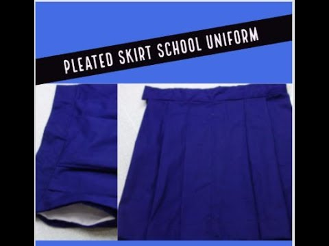 aae72f7734 pleated skirt school uniform: attach side pocket, front and back ...