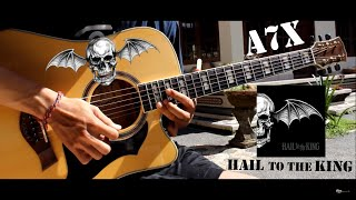 Avenged Sevenfold - Hail To The King ( Acoustic Version Guitar Solo Cover )