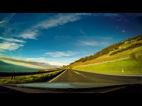 Driving in Switzerland - Aigle-Lausanne - RealTime - 4K UHD - GoPro Hero4 Black Edition