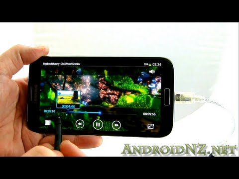 Samsung Galaxy Note 2: Connectivity demo - USB OTG, MHL, bluetooth keyboards/mice, games controllers