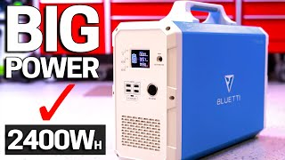 BIGGEST 2400Wh Power Station & Solar Generator - NEW Bluetti EB240 -  Portable Backup Power