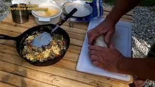 Campfire Cooking - Breakfast Burritos In Cast Iron