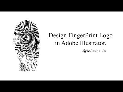 How To Draw FingerPrint Logo In Adobe Illustrator