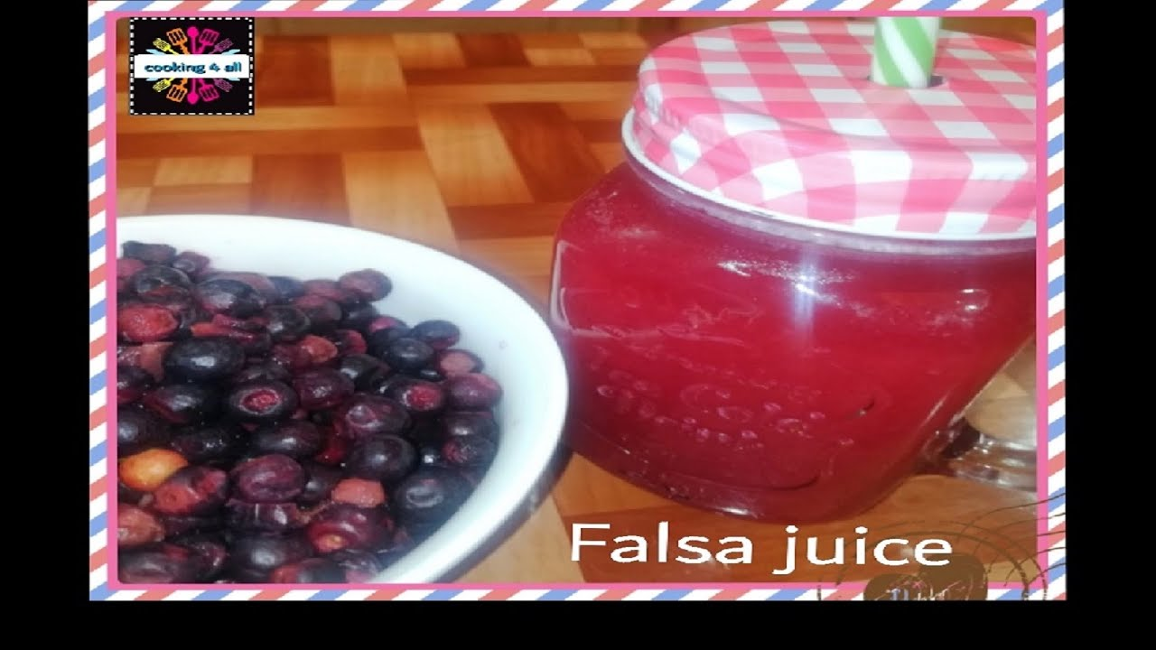 Falsa juice/ grewasiatica juice/ summer refreshing & healthy drink/ cooking4all/english instructions