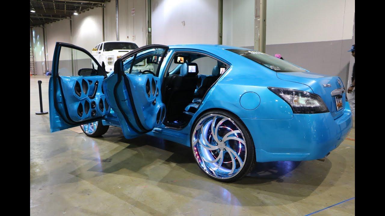 whipaddict  outrageous 2014 nissan maxima on corleone forged 26s  custom interior  u0026 car audio
