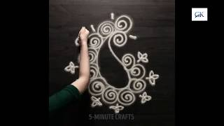 Beautiful rangoli designs || rangoli easy designs || rangoli easy designs for diwali ||