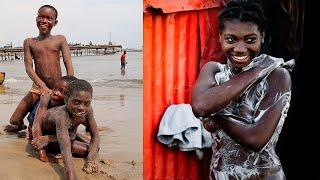 вы хотели бы жить здесь на берегу океана? Африка Гана как живут люди.
