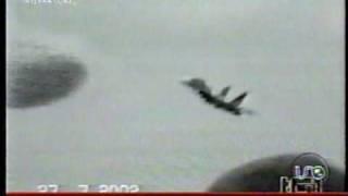 Ovni estrella avion caza Su-27 en Lviv Ucrania - 27 Jul 2002