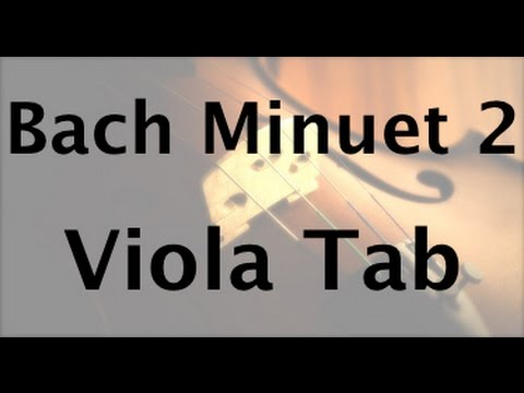 Learn Minuet No. 2 on Viola - How to Play Tutorial