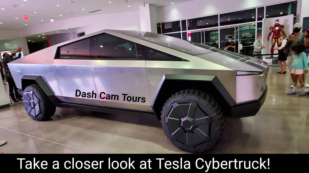 June 25, 2020. Tesla Cybertruck and Other Cars at Petersen Automotive Museum in LA.  Dash Cam Tours