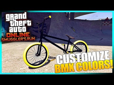 GTA Online - How To Customize BMX Bike Colors AFTER Smuggler's Run DLC 1.41 (GTA 5 DLC)