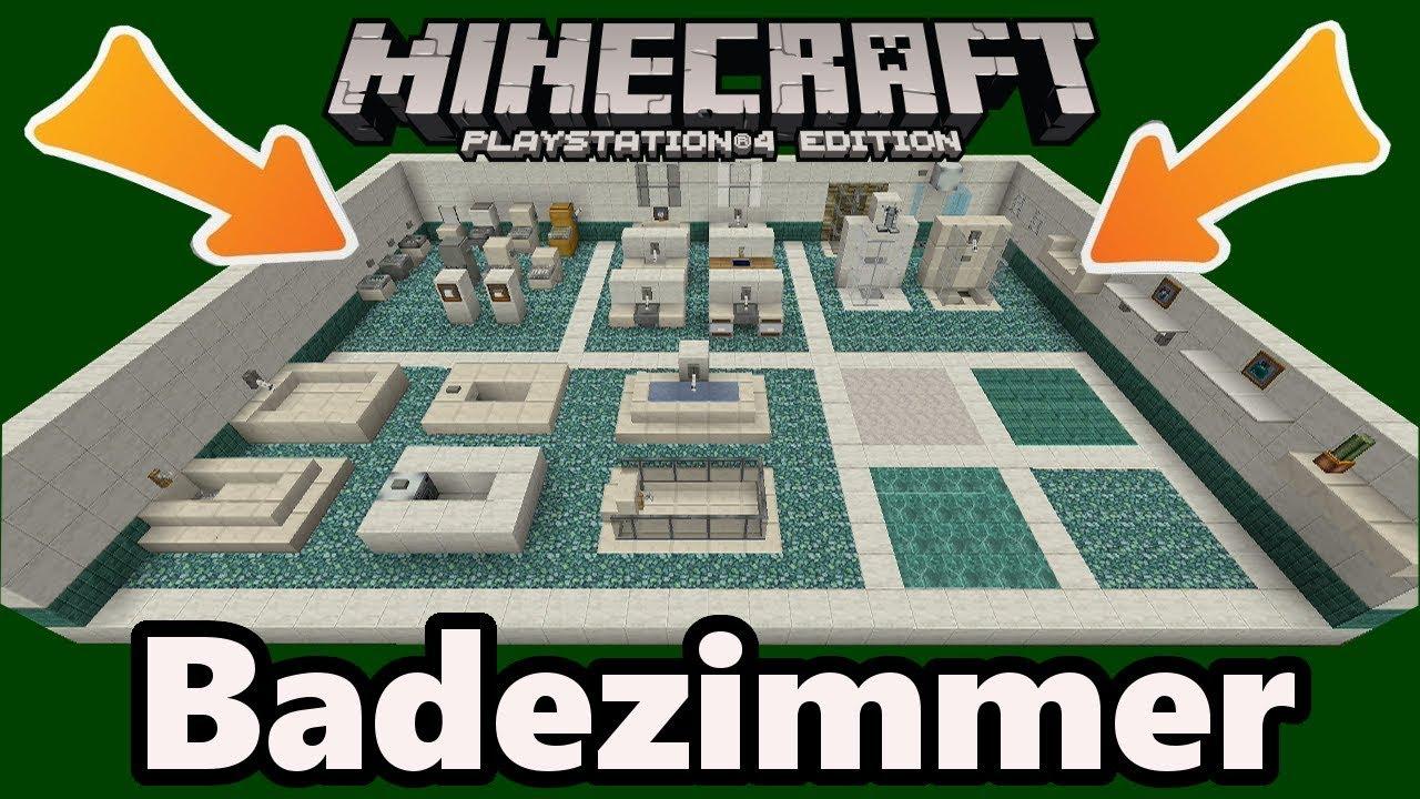 minecraft badezimmer einrichtung deko designs gegenstnde