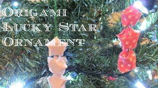 Origami Lucky Star Ornament