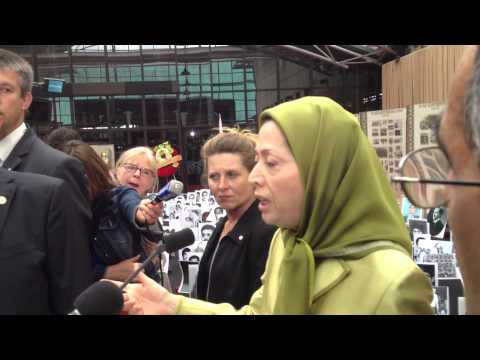 Maryam Rajavi at the Conference for the National Council of Resistance of Iran - Paris 22-06-2013-02