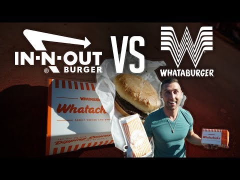 MY FIRST WHATABURGER EXPERIENCE   WHATABURGER VS. IN-N-OUT