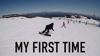 MY FIRST TIME | How Good Can You Get At Snowboarding In ONE Day With NO Lessons? | MT. RUAPEHU, NZ
