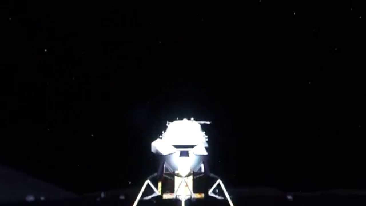 Lunar Module lift off Apollo 17 - YouTube