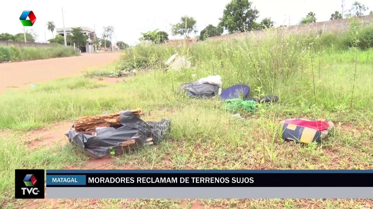 Moradores reclamam de terrenos sujos