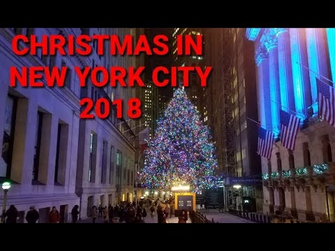 Christmas in New York City 2018 - Wall Street, and Lower Manhattan
