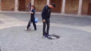 Guy gets dumped on in Grenada, Spain