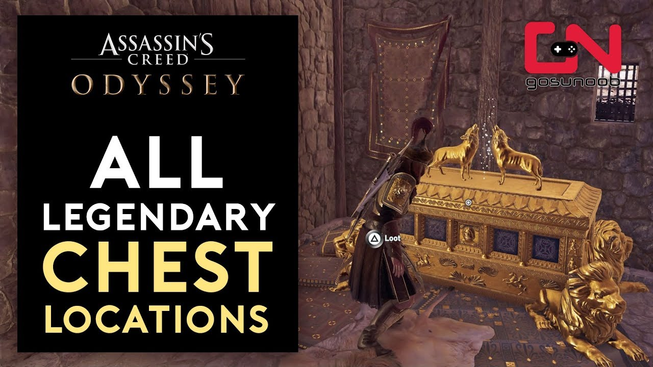 Assassin S Creed Odyssey All 17 Legendary Chest Locations Youtube