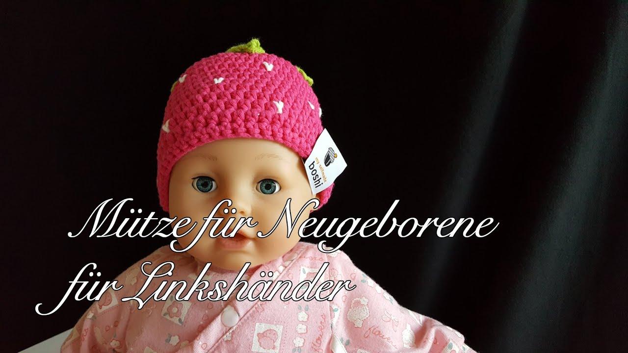Mütze Für Neugeborene Erdbeerboshi Häkelanleitung Babymütze