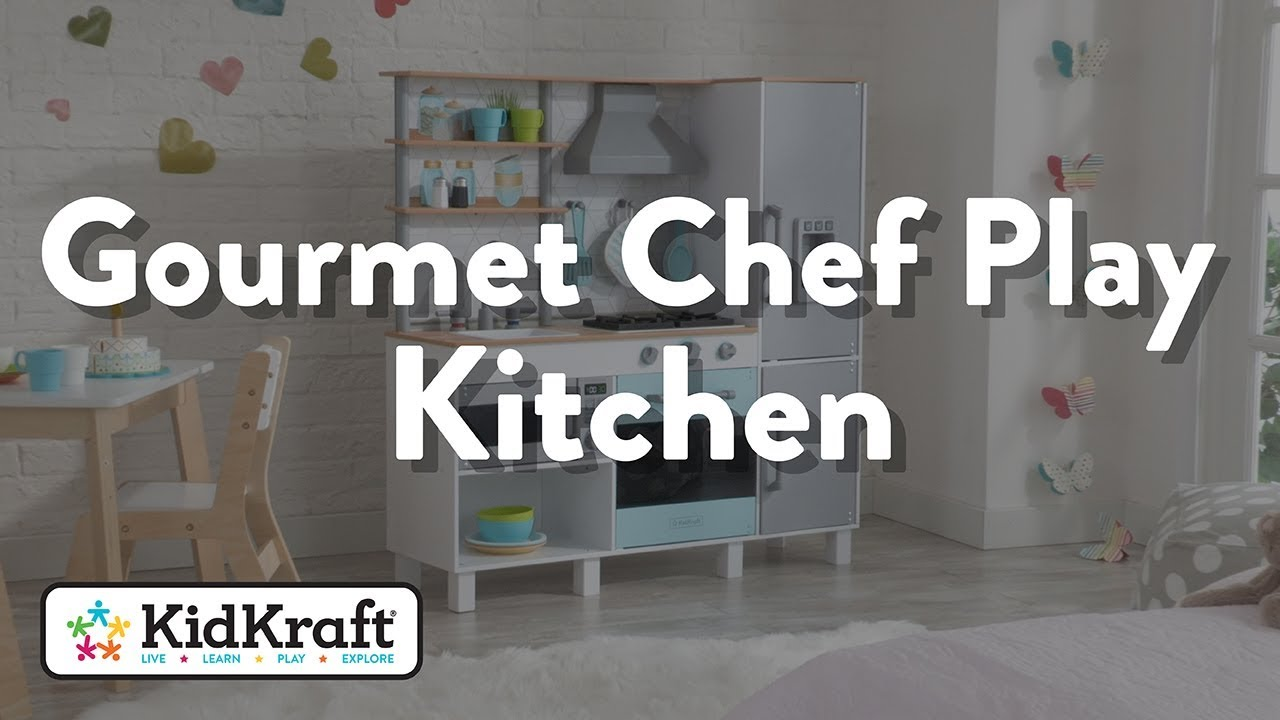 Gourmet Chef Play Kitchen With Ez Kraft Assembly Toy Demo By Kidkraft Youtube