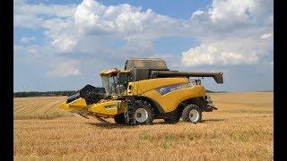 NEW HOLLAND CR 9070 à la moisson du blé dans la Meuse