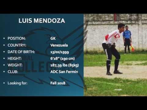Luis Mendoza - College Soccer Recruiting Video Fall 2018