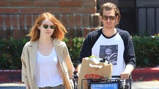 X17 EXCLUSIVE: Emma Stone And Andrew Garfield Buying Groceries, Back Together [Censored]