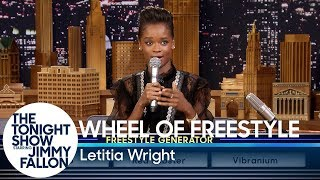 Wheel of Freestyle with Black Panther's Letitia Wright by : The Tonight Show Starring Jimmy Fallon