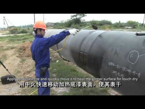 Heat shrinkable sleeve for steel pipes