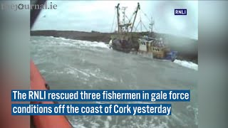Fishermen Rescued In Stormy Conditions Off Cork