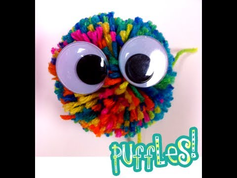 cool crafts for kids diy pompom how to make a puffle 10640