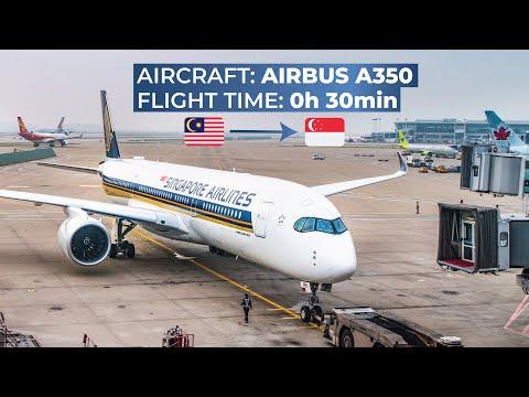 TRIPREPORT   Singapore Airlines (ECONOMY)   Airbus A350-900XWB   Kuala Lumpur - Singapore