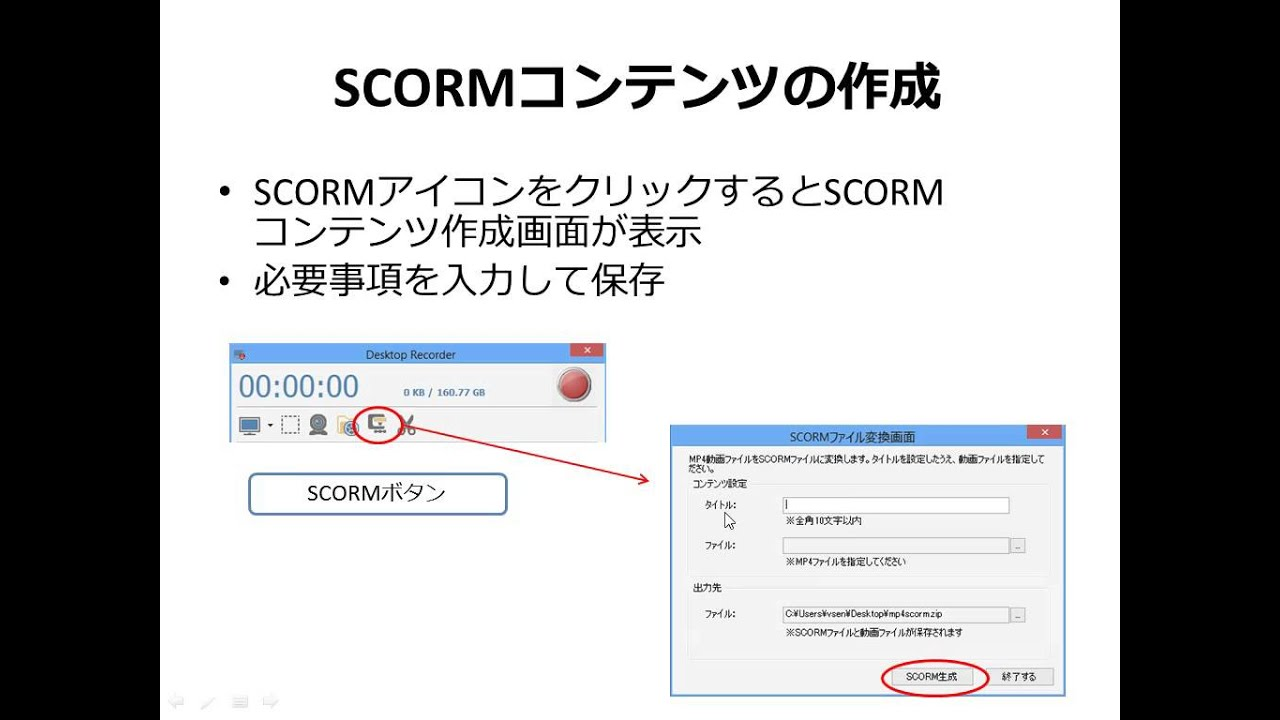 4 Scormコンテンツ作成 Youtube