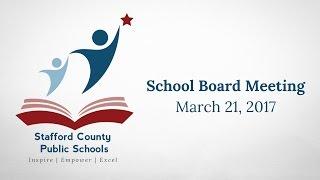 SCPS School Board Meeting -- 3-21-17