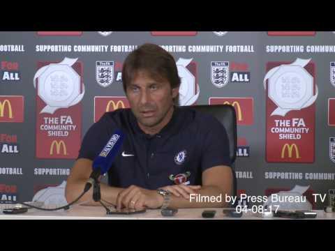 Antonio Conte pre Chelsea vs Arsenal Community Shield