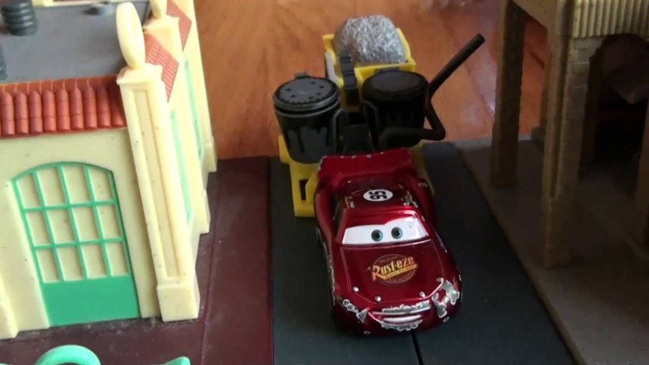 pixar cars bessie pulled by lightning youtube