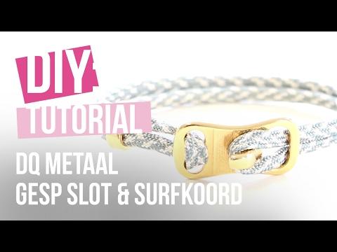 Sieraden maken: Armband met DQ gesp slot & surfkoord ♡ DIY