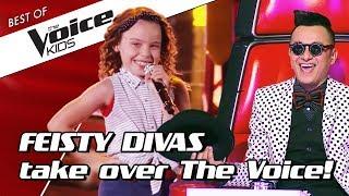 TOP 10 | FIERY little DIVAS in The Voice Kids