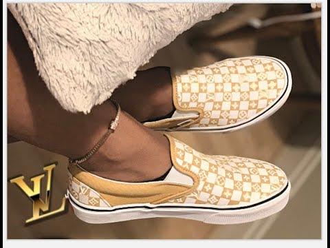 DIY Louis Vuitton Vans! - YouTube