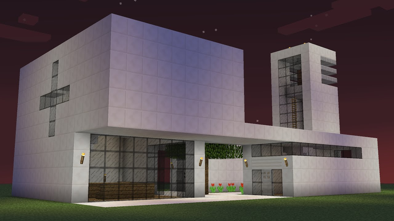 Minecraft how to build a modern church youtube for Modern church youth building design
