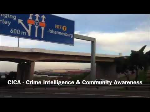 Rocks thrown from bridge / overpass cause LDV/SUV to crash in Johannesburg South Africa