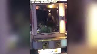 Hot scene in a hotel window